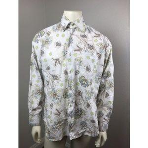 LIGNE KIWI Large Men's Shirt 100% Cotton Floral